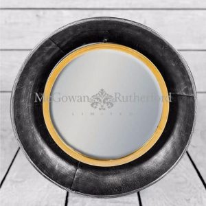 BRONZE SMALL ROUND WALL MIRROR