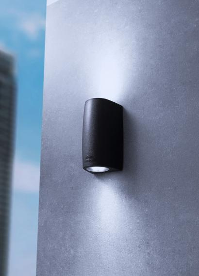 POLYCARBONATE BLACK LED OUTDOOR DOWNLIGHTER  Thompsons Lighting & Interiors