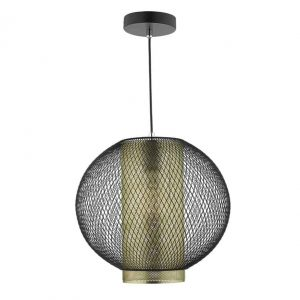 NIELLO 1 LIGHT PENDANT BLACK & MATT GOLD INNER