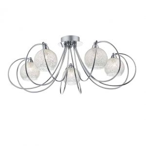 RAFFERTY 5 LIGHT SEMI FLUSH POLISHED CHROME
