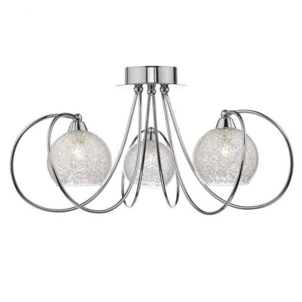 RAFFERTY 5 LIGHT SEMI FLUSH POLISHED CHROME  Thompsons Lighting & Interiors