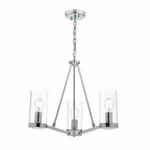 RAMIRO 3lt PENDANT POLISHED CHROME & GLASS