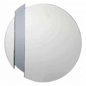 YULIA SILVER AND SMOKED MIRROR 50CM