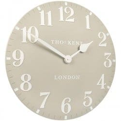 Arabic wall clock dove grey  Thompsons Lighting & Interiors