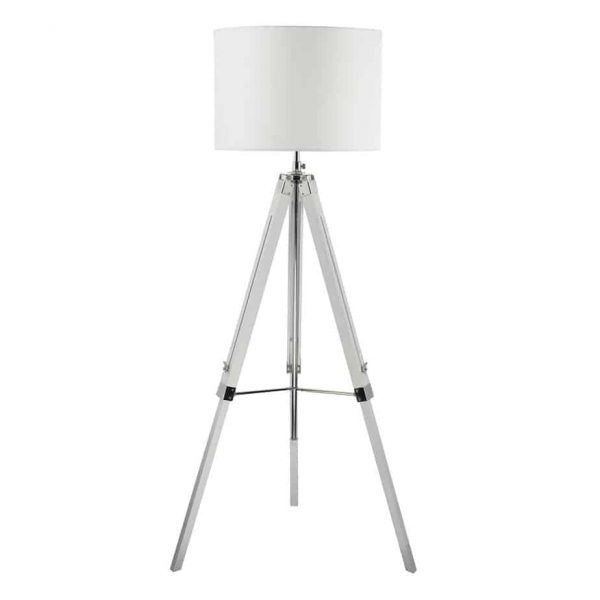 EASEL TRIPOD FLOOR LAMP BASE ONLY WHITE FINISH  Thompsons Lighting & Interiors