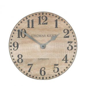 Wharf Soaped Oak Wall Clock