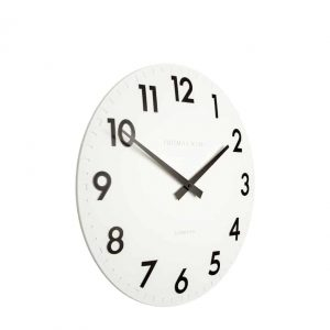 12″ CAMDEN WALL CLOCK COTTON WHITE
