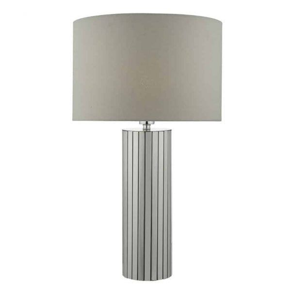 CASSANDRA TABLE LAMP POLISHED CHROME COMPLETE WITH SHADE  Thompsons Lighting & Interiors