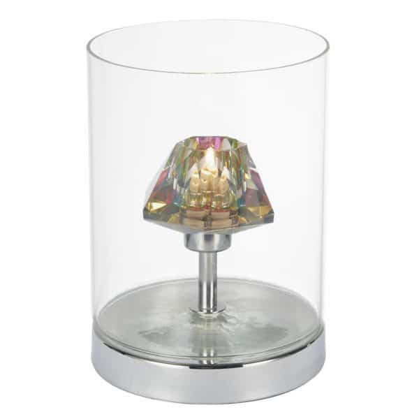 DECADE TABLE LAMP POLISHED CHROME/ CLEAR TOUCH  Thompsons Lighting & Interiors
