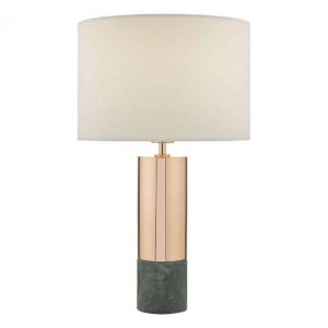 DIGBY COPPER TABLE LAMP & GREEN WITH SHADE