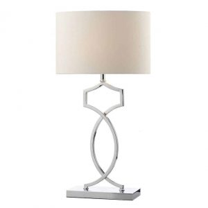 DONOVAN TABLE LAMP POLISHED CHROME COMPLETE WITH SHADE