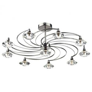 LUTHER 10 LIGHT SEMI FLUSH BLACK CHROME