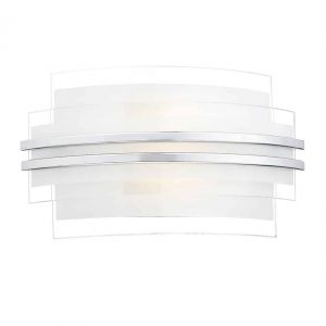SECTOR DOUBLE TRIM LED WALL LIGHT SMALL