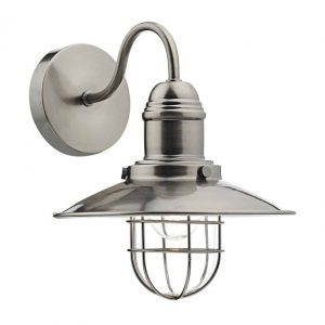 TERRACE SINGLE WALL LIGHT ANTIQUE CHROME