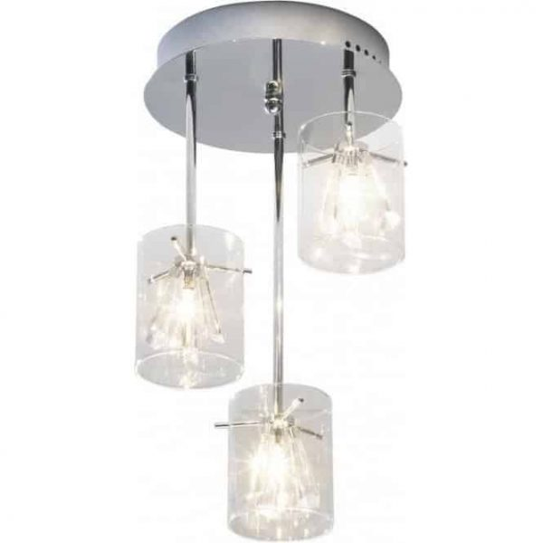 SOMERSET 3 LIGHT SEMI FLUSH  Thompsons Lighting & Interiors