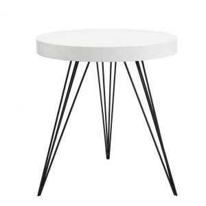 SIBFORD ROUND TABLE GLOSS WHITE TOP