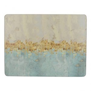 CREATIVE TOPS GOLDEN REFLECTIONS PACK OF 6 PREMIUM PLACEMATS & 6 COASTERS