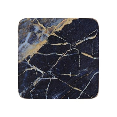 CREATIVE TOPS NAVY MARBLE PACK OF 6 PREMIUM PLACEMATS & 6 COASTERS  Thompsons Lighting & Interiors