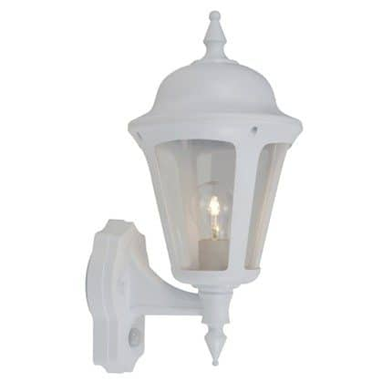 LATINA POLYCARBONATE WALL LANTERN WHITE  Thompsons Lighting & Interiors