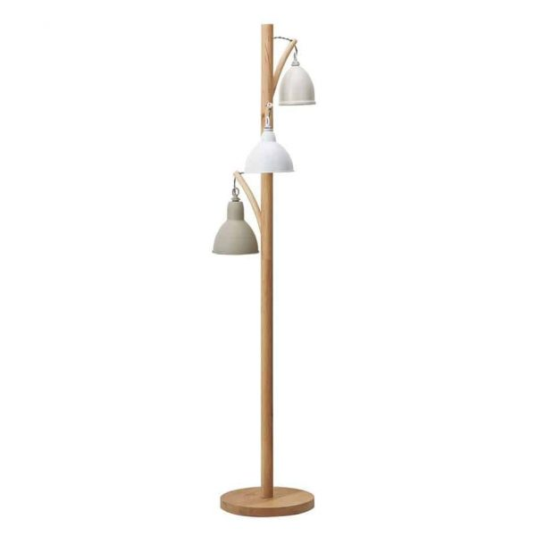 BLYTON 3 LIGHT FLOOR LAMP COMPLETE WITH PAINTED SHADE  Thompsons Lighting & Interiors