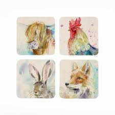 VOYAGE MAISON WILDLIFE COASTERS SET OF 4