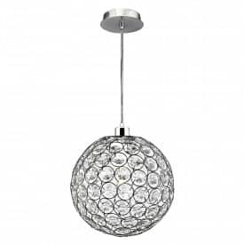 BELLIS II CHROME PENDANT WITH CLEAR ACRYLIC BUTTONS  Thompsons Lighting & Interiors