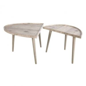 BAEZA TWO PART COFFEE TABLE LIGHT OAK WOOD EFFECT