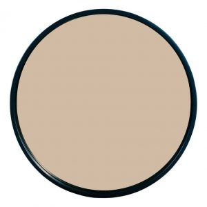 ANZIO ROUND SATIN BLACK AND ROSE GOLD MIRROR 59CM