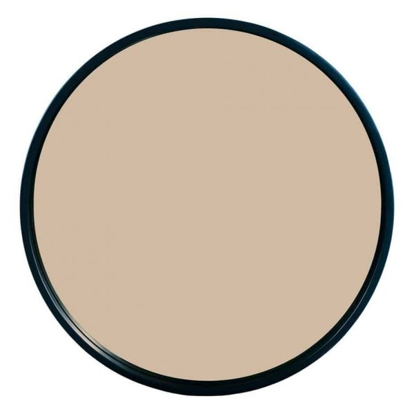 ANZIO ROUND SATIN BLACK AND ROSE GOLD MIRROR 59CM  Thompsons Lighting & Interiors