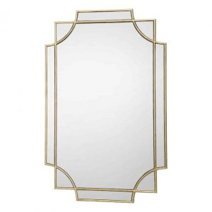 GUAPO RECTANGLE GOLD DETAIL MIRROR 90 X 60CM
