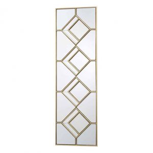 KIPTON RECTANGLE DECORATIVE MIRROR WITH GOLD FOIL DETAIL