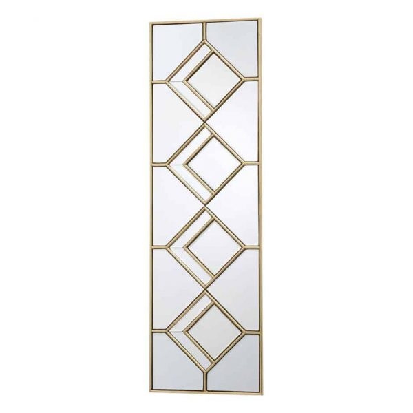 KIPTON RECTANGLE DECORATIVE MIRROR WITH GOLD FOIL DETAIL  Thompsons Lighting & Interiors