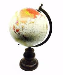 EMPORIUM COLLECTION GLOBE WITH METAL & WOODEN BASE 20CM – WIDDOP