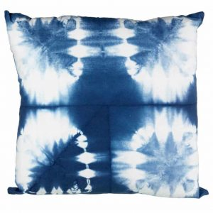 PARLANE OCATA COTTON CUSHION – WHITE/BLUE
