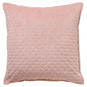 Scatter Box Kite Quilted Velvet Feather Filled Cushion, Blush