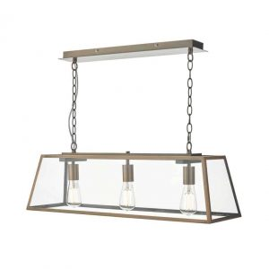Academy 3 Light Bar Pendant Antique Copper