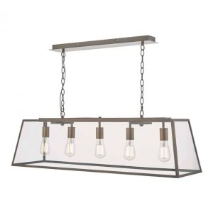Academy 5 Light Bar Pendant Antique Copper
