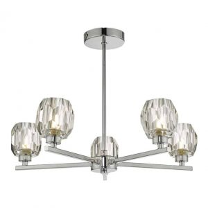 Idina 5 Light Semi Flush Polished Chrome