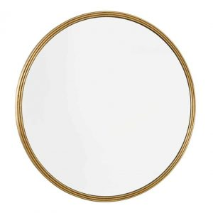 Tiya Round Mirror With Gold Detail