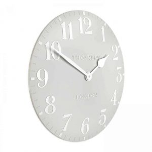 20″ Arabic Wall Clock Dove Grey