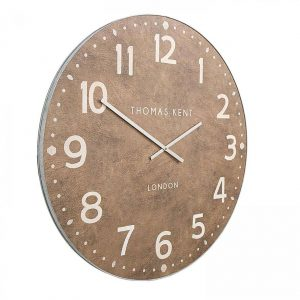 30″ Wharf Grand Clock Leather