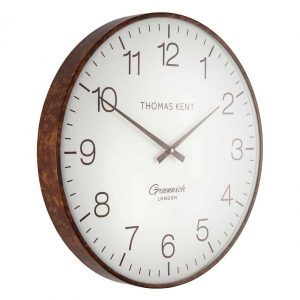21″ Greenwich Club Wall Clock Walnut