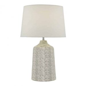 Vondra Table Lamp White & Grey With Shade