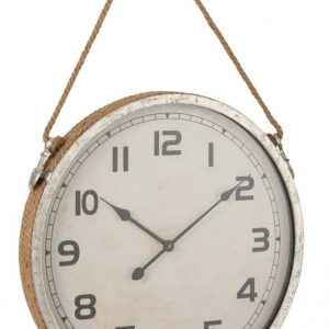 Jute Rope and Nickle Clock 60 cm
